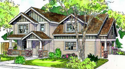3 Bed, 2 Bath, 1558 Square Foot House Plan - #035-00348