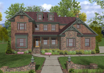 4 Bed, 4 Bath, 2953 Square Foot House Plan - #036-00136
