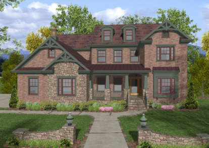 4 Bed, 4 Bath, 2964 Square Foot House Plan - #036-00139