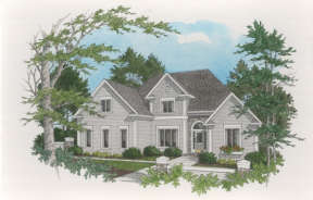 Traditional House Plan #036-00144 Elevation Photo