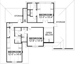 Second Floor for House Plan #036-00144