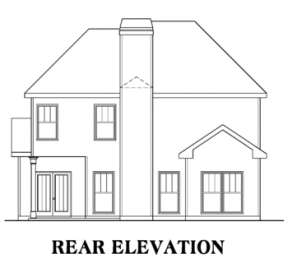Narrow Lot House Plan #009-00098 Elevation Photo