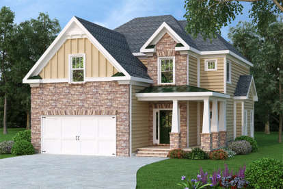 4 Bed, 2 Bath, 2224 Square Foot House Plan - #009-00098