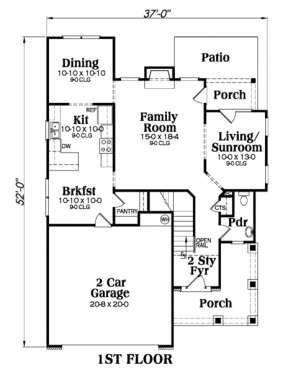 Main Floor for House Plan #009-00098