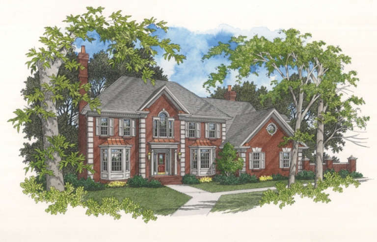 Traditional House Plan #036-00154 Elevation Photo
