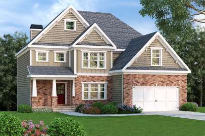 4 Bed, 3 Bath, 2372 Square Foot House Plan - #009-00099