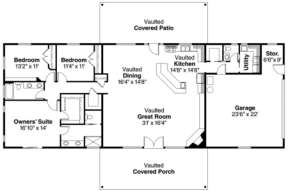Floorplan 1 for House Plan #035-00349