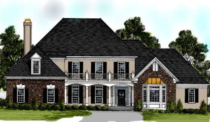 4 Bed, 4 Bath, 3642 Square Foot House Plan - #036-00159