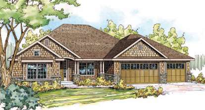 3 Bed, 2 Bath, 2437 Square Foot House Plan - #035-00459
