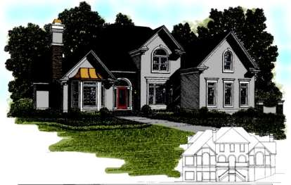 4 Bed, 4 Bath, 4060 Square Foot House Plan - #036-00163