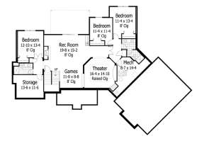 Basement for House Plan #098-00211