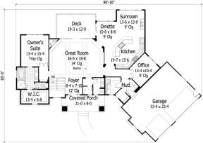 Main Floor for House Plan #098-00211