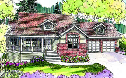 3 Bed, 2 Bath, 2197 Square Foot House Plan - #035-00353