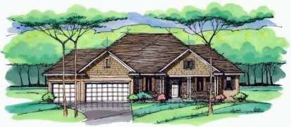 3 Bed, 2 Bath, 3241 Square Foot House Plan - #098-00225