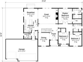 Main Floor for House Plan #098-00228