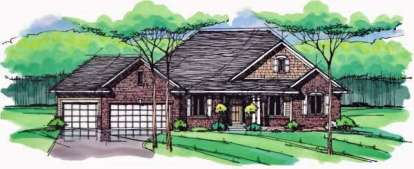 5 Bed, 3 Bath, 3290 Square Foot House Plan - #098-00229