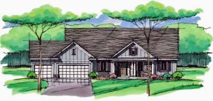 3 Bed, 0 Bath, 2036 Square Foot House Plan - #098-00230