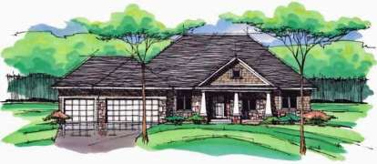 5 Bed, 3 Bath, 3290 Square Foot House Plan - #098-00233