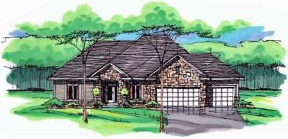 3 Bed, 2 Bath, 2074 Square Foot House Plan - #098-00234
