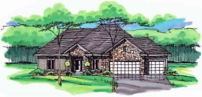 5 Bed, 3 Bath, 3441 Square Foot House Plan - #098-00235