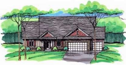 5 Bed, 3 Bath, 3441 Square Foot House Plan - #098-00237
