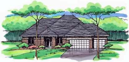 5 Bed, 3 Bath, 3441 Square Foot House Plan - #098-00239
