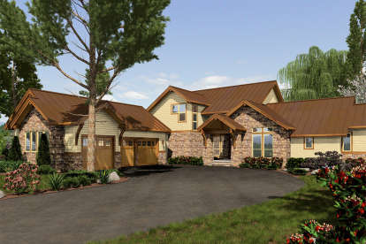 3 Bed, 4 Bath, 3546 Square Foot House Plan - #2559-00017