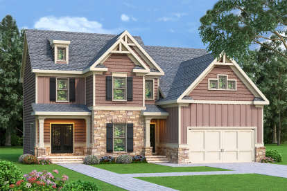 4 Bed, 3 Bath, 2292 Square Foot House Plan - #009-00100