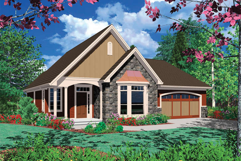Cottage House Plan #2559-00078 Elevation Photo