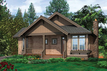 3 Bed, 2 Bath, 1405 Square Foot House Plan - #2559-00103