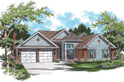 3 Bed, 2 Bath, 2378 Square Foot House Plan - #2559-00113
