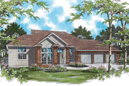 4 Bed, 2 Bath, 2977 Square Foot House Plan - #2559-00119