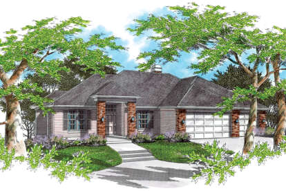 3 Bed, 2 Bath, 3227 Square Foot House Plan - #2559-00150