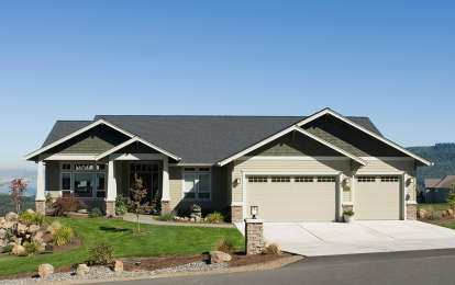 3 Bed, 2 Bath, 3246 Square Foot House Plan - #2559-00151