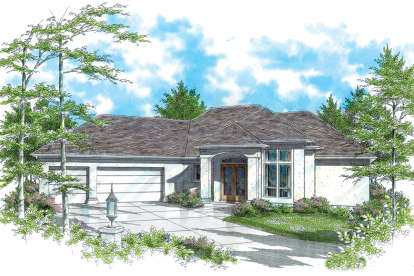 3 Bed, 2 Bath, 3557 Square Foot House Plan - #2559-00154