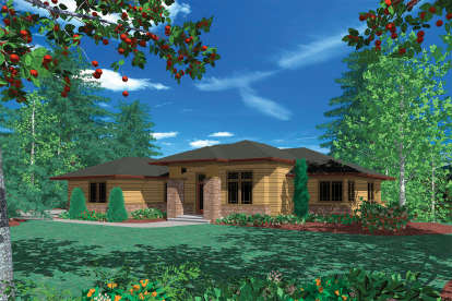 4 Bed, 3 Bath, 3613 Square Foot House Plan - #2559-00156
