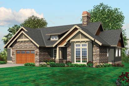 4 Bed, 3 Bath, 3459 Square Foot House Plan - #2559-00170