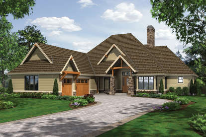 4 Bed, 4 Bath, 4333 Square Foot House Plan - #2559-00187