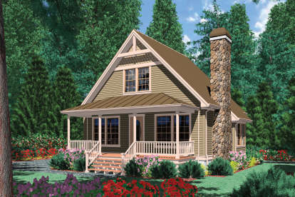 1 Bed, 1 Bath, 950 Square Foot House Plan - #2559-00225