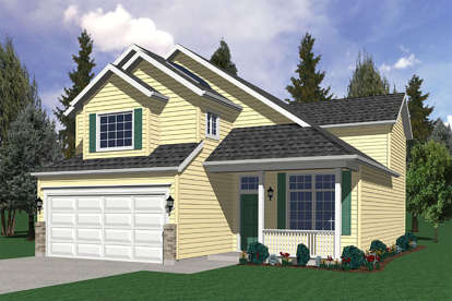 4 Bed, 2 Bath, 1840 Square Foot House Plan - #2559-00236