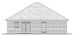 Narrow Lot House Plan #041-00001 Elevation Photo
