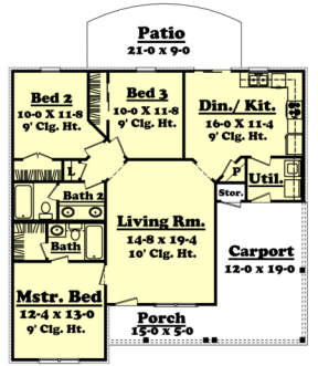 Main Floor for House Plan #041-00001