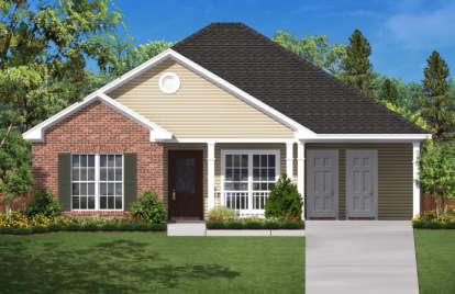 3 Bed, 2 Bath, 1350 Square Foot House Plan - #041-00002