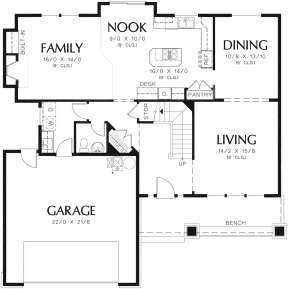 Main Floor for House Plan #2559-00350