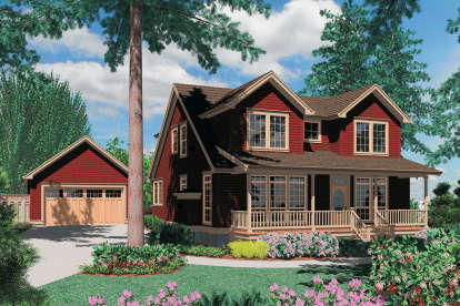 4 Bed, 3 Bath, 2859 Square Foot House Plan - #2559-00358