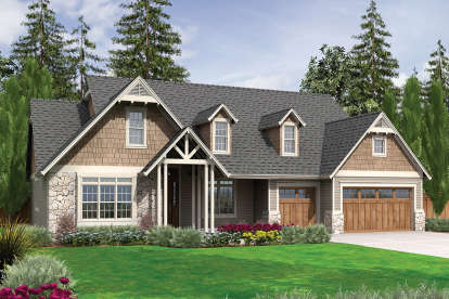 3 Bed, 2 Bath, 2591 Square Foot House Plan - #2559-00387