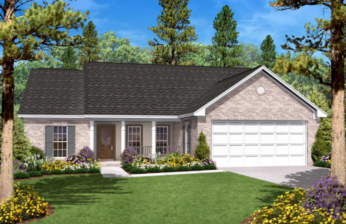 House Plan 041-00006 - Small Plan: 1,400 Square Feet, 3 Bedrooms, 2 on 1600 square foot open floor plan, 1600 ft floor plans, 1600 square foot floor plan template, 1600 square foot home, 1600 sq ft cottage plans, 1500 sq ft. house plans, 1600 square feet look like, beach house plans,