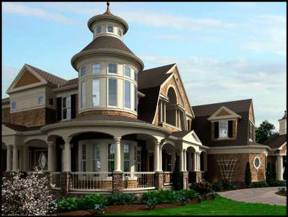 4 Bed, 3 Bath, 4350 Square Foot House Plan #341-00301