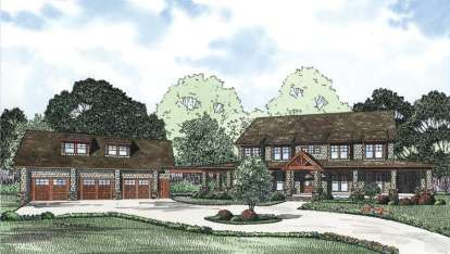6 Bed, 5 Bath, 4623 Square Foot House Plan - #110-00840