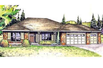 3 Bed, 2 Bath, 2318 Square Foot House Plan - #035-00460